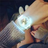 夜光手錶女中學生正韓簡約復古閨蜜一對小錶盤電子錶WY