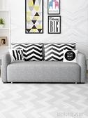 布藝沙發可拆洗客廳小戶型三人雙人多功能 簡約現代兩用1.8沙發床 YDL