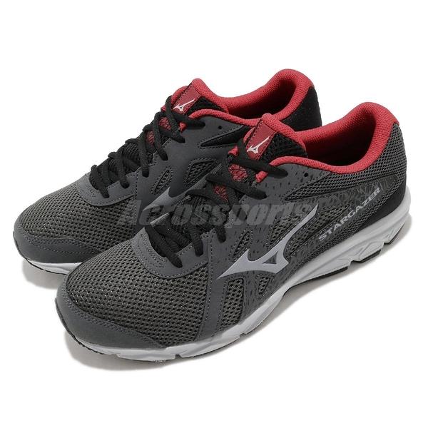 Mizuno 慢跑鞋 Stargazer 2 灰 紅 男鞋 運動鞋 【ACS】 K1GA2050-05
