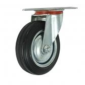 橡膠折疊載物車替換輪 4吋 前旋轉輪 40KG