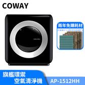 【兩年免購耗材-抗菌組】韓國Coway 18坪 旗艦環禦型 空氣清淨機 AP-1512HH HEPA13醫療級防禦