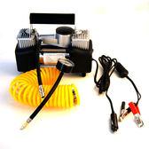 【真雙缸打氣機】附收納包胎壓計 汽車用12V輪胎打氣 車載雙汽缸電動充氣 電瓶供電 附3種接頭