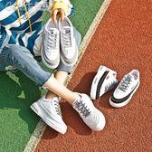 運動鞋 跑步鞋女韓版百搭原宿街拍學院風bf「Chic七色堇」