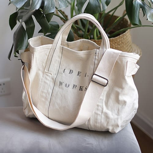托特包 斜背包  字母 搭釦 帆布包 斜挎 大方包 環保購物袋-手提/單肩/斜背包【AL354】 icoca  09/20