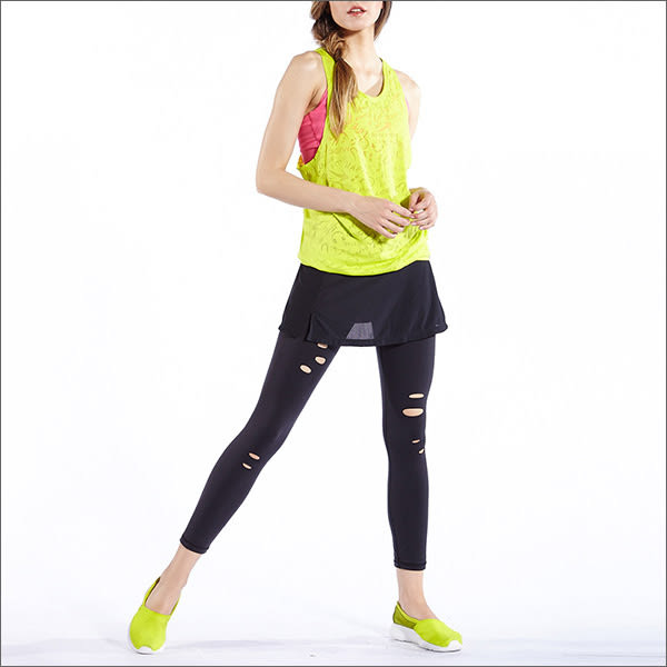 經典開叉修飾罩裙TA585(商品圖不含配件) -百貨專櫃品牌 TOUCH AERO 瑜珈服有氧服韻律服