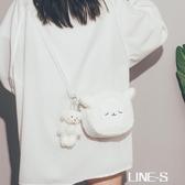 日系可愛小包包女2020新款潮今年流行羊羔毛玩偶包韓版學生斜挎包