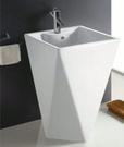 【麗室衛浴】 洗臉盆C-199-4 落地鑽石立柱型 單孔 46*46*高82CM