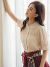 獨家下殺↘3折[H2O]烏干紗刺繡領五分公主泡泡袖雪紡上衣 - 紅/黑/淺卡色 #9635001