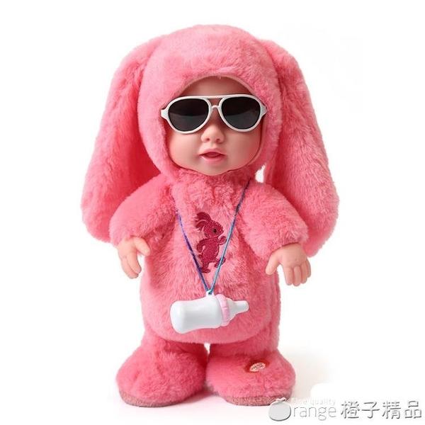 兒童電動毛絨娃娃動物會唱歌跳舞的走路說話學舌女孩玩具3-4-6歲5 (橙子精品)