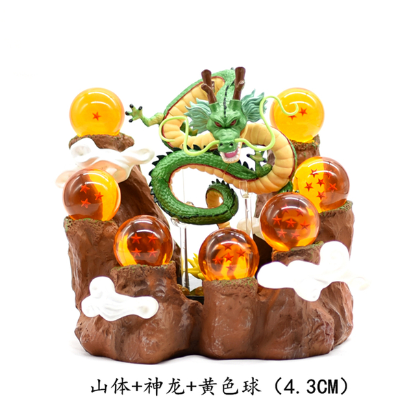 七龍珠周邊動漫悟空手辦7顆神龍水晶龍珠球模型 熊熊物語