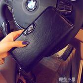新款韓版男士長款手抓包 潮流新款長款錢包 休閒男女士錢夾多卡位『櫻花小屋』