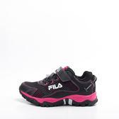 FILA  戶外越野跑鞋-黑/桃 3-X814R-024