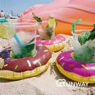 歐美 充氣 甜甜圈 火烈鳥 夏日 繽紛 手機座 水上 可樂杯座 飲料杯座 兒童 玩具 造型 游泳圈