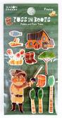 四季 SEASON 手工貼紙-靴貓 (TZ4511-02) 立體貼紙 卡片裝飾 【金玉堂文具】