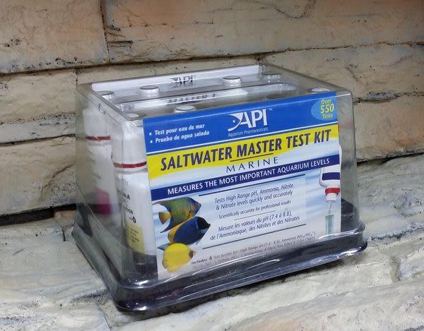 【西高地水族坊】美國魚博士API 海水缸全套測試組(SALTWATER LIQUID MASTER TEST KIT)