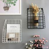 雜誌架 掛懸掛式墻上書架收納架墻壁雜志架簡約客廳書報架LB1653【Rose中大尺碼】