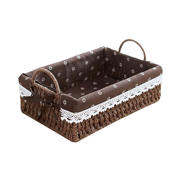草編收納筐桌面零食收納盒