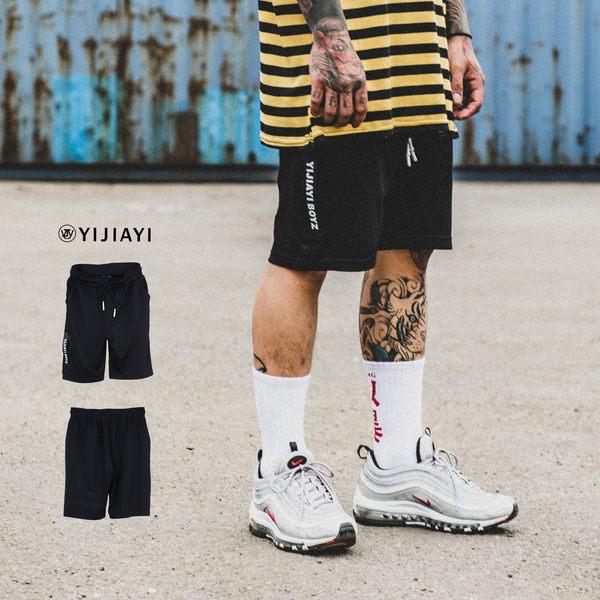 【YIJIAYI】✔(現貨) 羅馬布 休閒 運動 素面 飄帶 短褲 (0563)