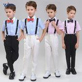 兒童禮服結婚花童男小西裝鋼琴演出服背帶褲套裝 st1605『毛菇小象』