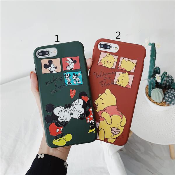 【SZ15】iphone 8 plus手機殼 糖果小熊維尼米奇 iphone xs max手機殼 iphone11 xr i6s plus 手機殼