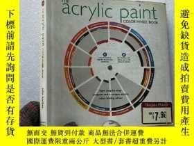 二手書博民逛書店THE罕見acrylic paint COLOR WHEEL B