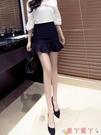超短裙2021春夏季新款荷葉邊短裙半身裙一步裙顯瘦魚尾包臀裙a字褲裙女 愛丫