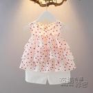 女童時尚洋氣套裝一歲嬰幼兒寶寶夏季韓版衣服小童雪紡無袖短褲潮 雙十二全館免運