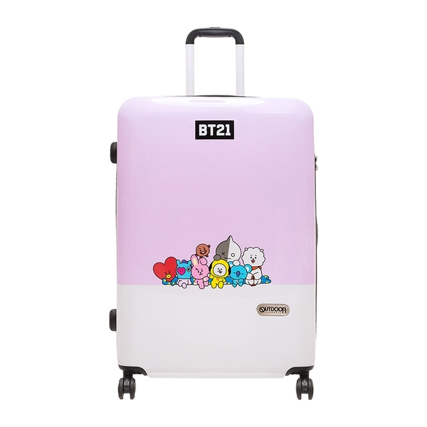 OUTDOOR x BT21 行李箱 28吋 宇宙明星BT21 LINE FRIENDS 全員集合 行李箱 ODBT1980B28 得意時袋