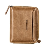 新款錢包男士短款韓版個性復古青年學生拉鍊錢夾多功能駕駛證皮夾