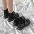 小皮鞋女風日繫jk制服鞋復古黑色鞋 洛小仙女鞋
