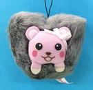 【震撼精品百貨】PostPet_MOMO熊~絨毛吊飾/手機吊飾~灰#20017