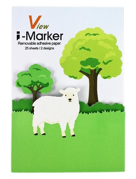 【卡漫城】 I-Marker 便利貼 棉羊 ~ 白羊 樹 造型 便條紙 Memo 貼 辦公室 創意 趣味 N次貼 留言貼