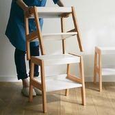實木創意椅子組合架-白色