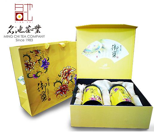 【名池茶業】梨山金萱茶-黃御璽禮盒(150g*2)●天然奶香.女生推薦款●