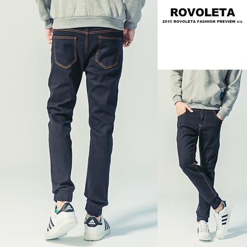 牛仔褲.素色縮口褲.休閒長褲.型男.穿搭.男裝【RO-N104】