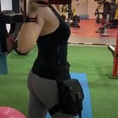 腰腿包女男騎行顯臀百搭多功能戶外運動健身腿包腰包女機車防水潮 韓美e站