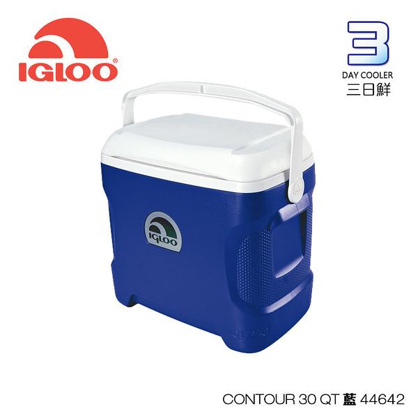 IgLoo CONTOUR系列30QT冰桶44642 | 藍色 城市綠洲專賣 (保鮮、保冷、美國製造、露營、釣魚)