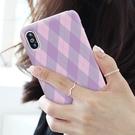 韓國 雙色菱格 硬殼 手機殼│iPhone 6 6S 7 8 Plus X XS MAX XR 11 Pro LG G7 G8 V40 V50│z8837