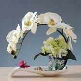 年終盛典 蝴蝶蘭假花盆栽歐式仿真花藝套裝家居客廳裝飾花玄關餐桌盆景擺件