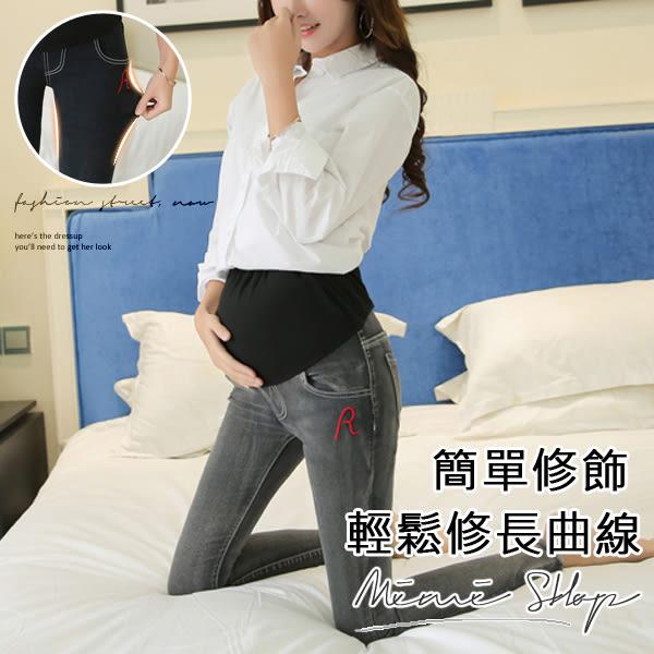 孕婦裝 MIMI別走【P61352】極致美型 顯瘦美腿孕婦牛仔褲 托腹褲 孕婦褲