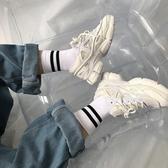 街頭二三杠ins原宿風條紋純棉中筒男女襪 情侶棒球足球長襪子潮