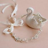 婚飾手工串珠水鉆新娘頭飾發帶發箍簡約新娘伴娘造型配飾品吾本良品