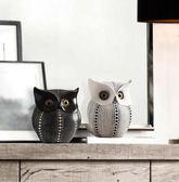 北歐擺件現代簡約家居辦公室裝飾品擺設軟裝樹脂創意工藝品貓頭鷹 baby嚴選