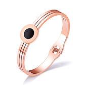 【5折超值價】時尚精美流行簡約圓形女款鈦鋼手環