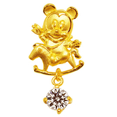 迪士尼系列金飾-黃金墜子-木馬米奇款