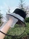 防飛沫帽子 韓國漁夫帽韓版潮面罩臉罩防護帽子女防塵防曬遮臉隔離防飛沫頭罩 618搶購