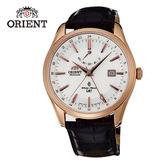 ORIENT 東方錶 GMT系列 雙時區藍寶石機械錶 皮帶款 SDJ05001W 玫瑰金 - 42mm
