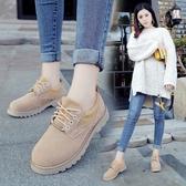 英倫復古女娃娃鞋 小皮鞋女英倫風復古單鞋2017春秋季韓版厚底女鞋學院學生鞋馬丁鞋 99