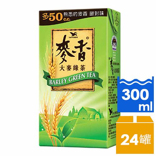 【免運/聯新貨運】統一麥香綠茶 300ml*1箱【合迷雅好物超級商城】 -02