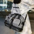 【免運】單肩包 工裝風 街頭風 大容量 多口袋 斜背包 側背包 機車背包 旅行包 手提袋 運動/健身